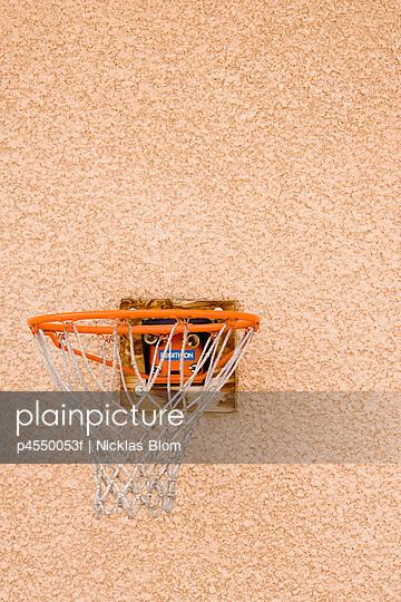 Close-up of a basketball hoop