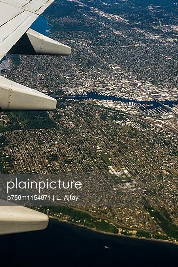 Seattle Luftaufnahme - p758m1154871 von L. Ajtay