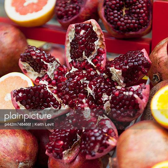 Citrus Fruit And Open Pomegranates; Istanbul Turkey
