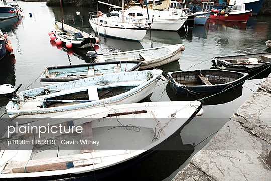 Fischerboote im Hafen - p1090m1159919 von Gavin Withey
