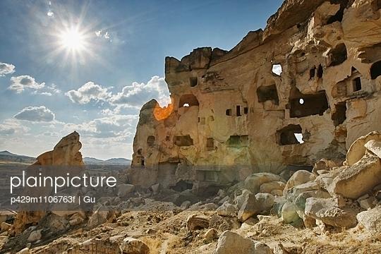 Rock formation dwellings, Cappadocia, Anatolia,Turkey