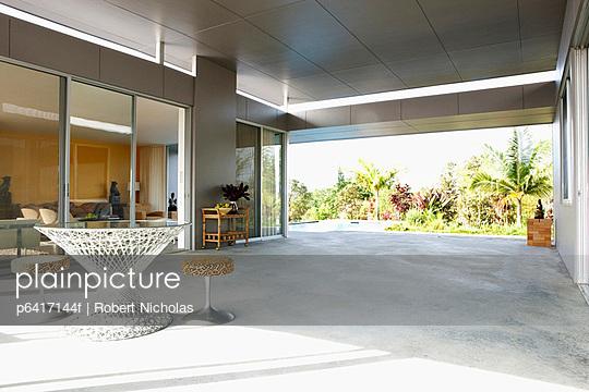 Patio of modern house