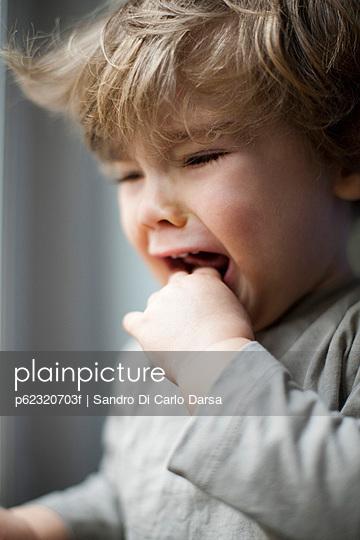 Toddler boy crying, portrait