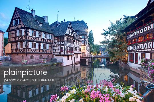 Evening at Petit-France, Strasbourg, France