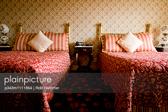 Interior of an old hotel room