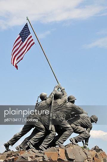 US Marines Iwo Jima monument, Arlington National Cemetery, Virginia., United States of America, North America