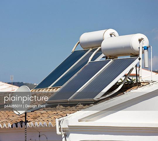 Solar energy panels, Nerja, Andalusia, Spain