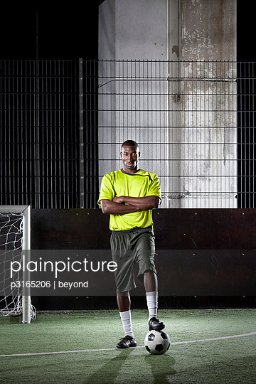 portrait of street football player