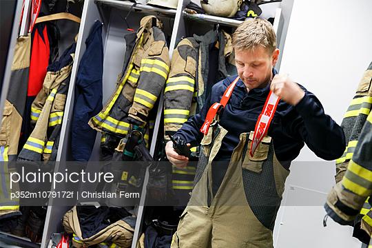 Sweden, View of fireman