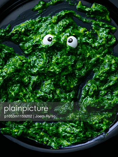 Spinatklecks mit Augen - p1053m1159202 von Joern Rynio