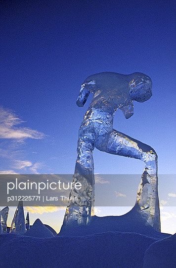 Ice sculpture Lapland Sweden