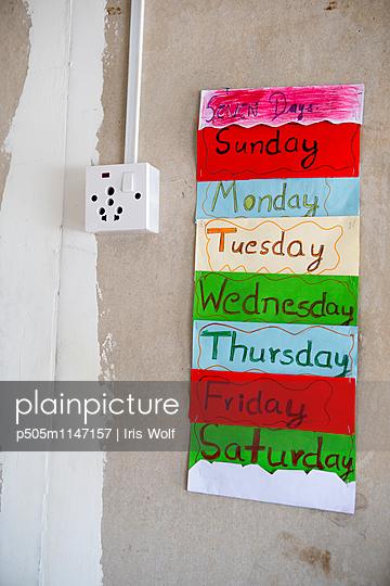 Wochentage - p505m1147157 von Iris Wolf