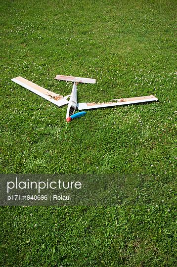 Broken toy plane