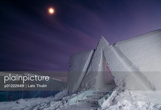 Ice hotel in Jukkasjarvi Lapland Sweden