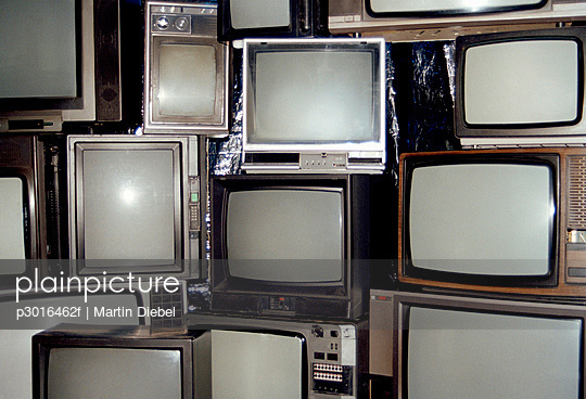 A collection of television sets