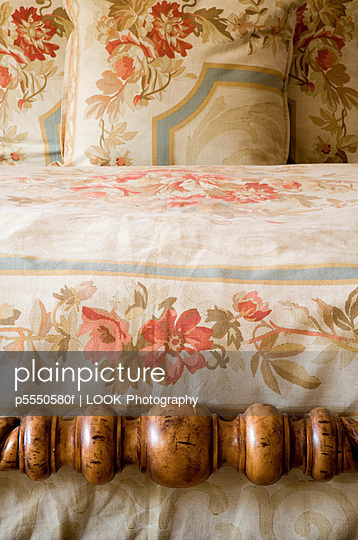 Floral Linens on Bed