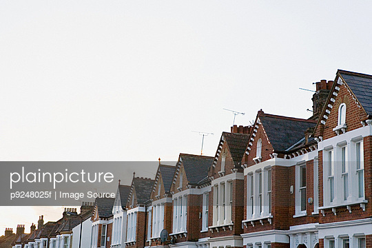Street of terraced houses