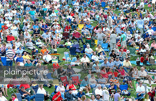 A Large Crowd Gather For A Fourth Of July Celebration In Kannapolis, Nc.