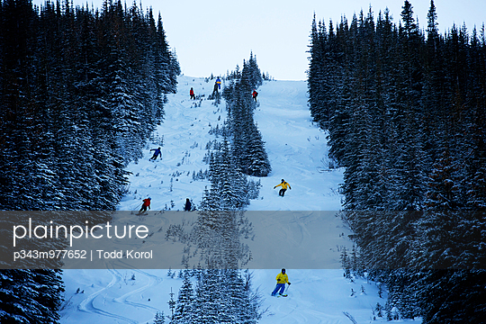 Cat skiing at Fortress Mountain near Canmore, Alberta.