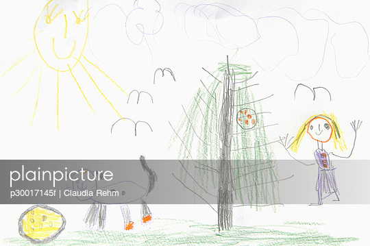 Close up of child\'s drawing