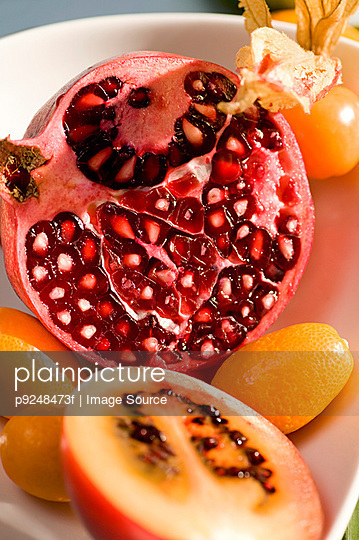 Pomegranate and other fruit