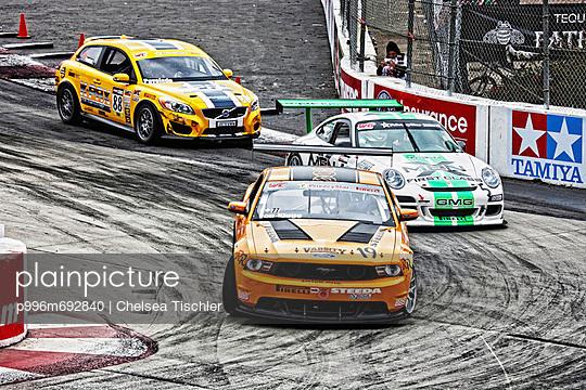 Three Racecars; Scca Racing; World Challenge Championship; Toyota Long Beach Grand Prix; Ford, Porsche, And Volvo