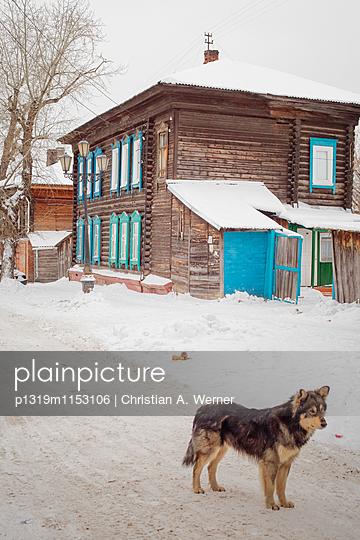 Winterszenerie in Tomsk, Sibirien - p1319m1153106 von Christian A. Werner