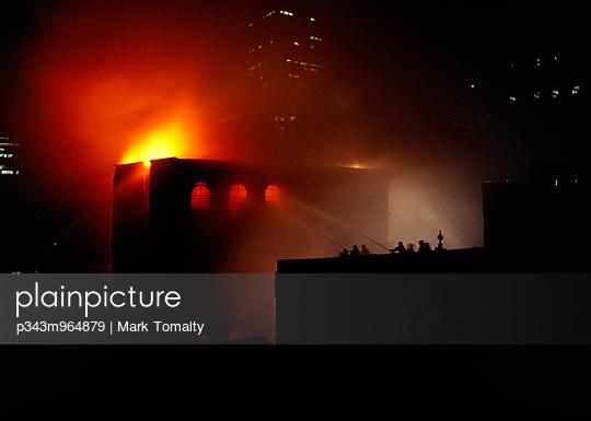 Firemen battling blaze in Old montreal Montreal,Quebec,Canada