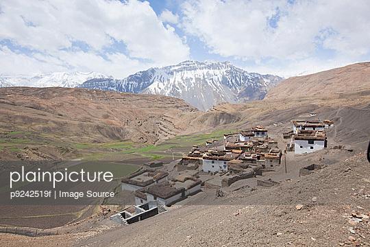 Comic village, Spiti Valley, Himachal Pradesh, India