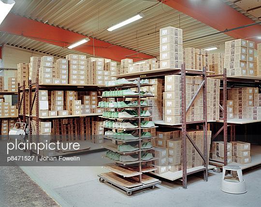 Interior Of Shoe Factory