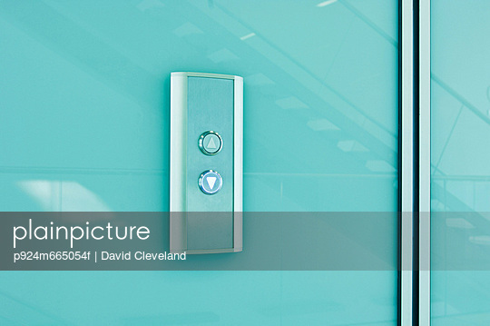 Elevator controls in modern office block