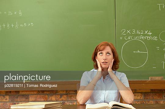 Exasperated teacher