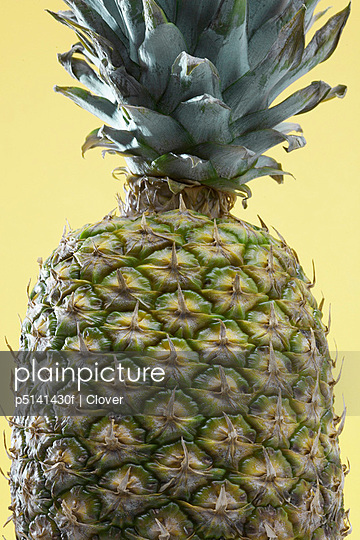 Close-up of single pineapple