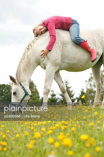Happy horse-riding