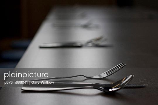 Utensils on table