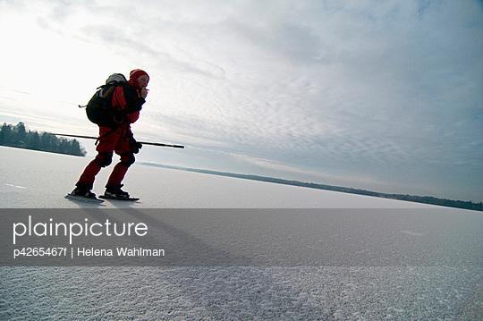 Person on winter walk