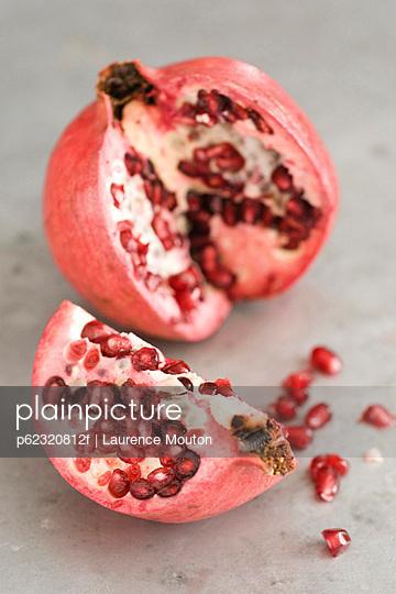 Pomegranate cut open