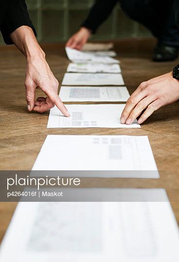 Documents on floor