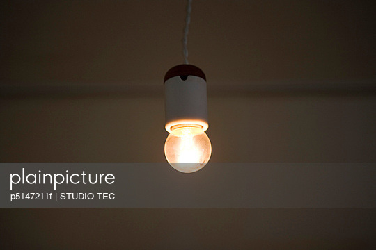 An Electric Light Bulb Turned on