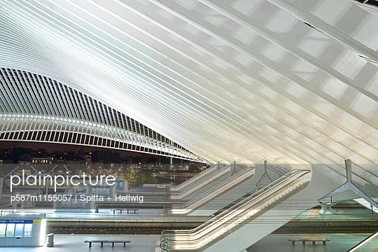 Bahnhof Liège-Guillemins, Rolltreppe  - p587m1155057 von Spitta + Hellwig