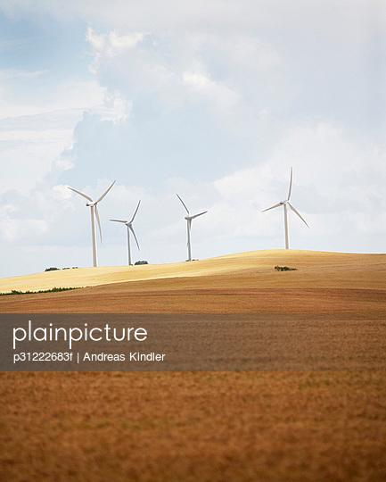 Wind turbines in a field Skane Sweden