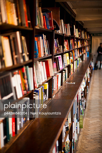 Victorian interior of Daunts Bookshop, Marylebone; London, UK