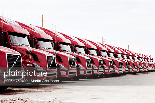 Modern Fleet Of Trucks