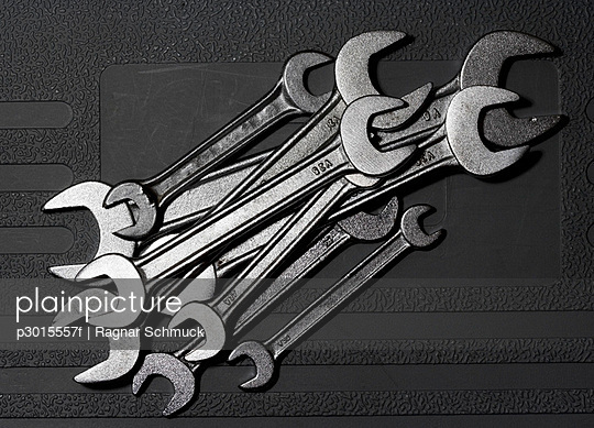 Close-up of wrenches