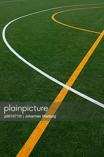 Lines on a sports court