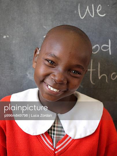 deaf Kenyan girl smiling