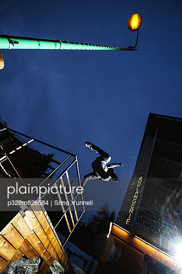 Man practicing parkour