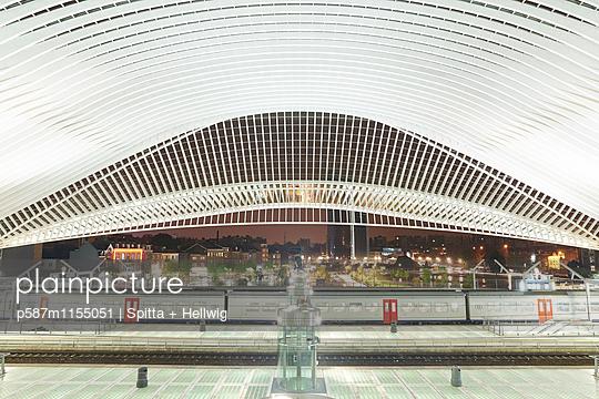 Bahnhof Liège-Guillemins in Lüttich - p587m1155051 von Spitta + Hellwig