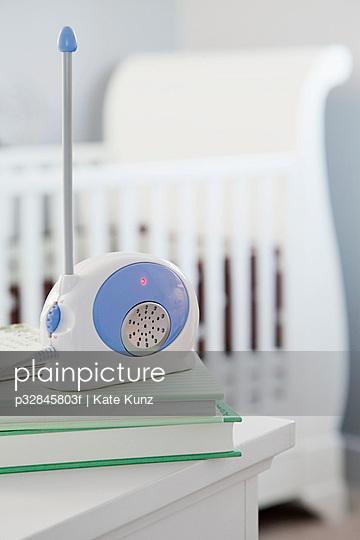 Baby monitor in nursery