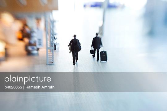 Business men at airport